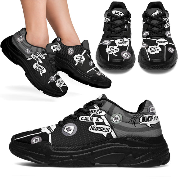 Cartoon Bubble Midnight Nurse™ Chunky Unisex Sneaker