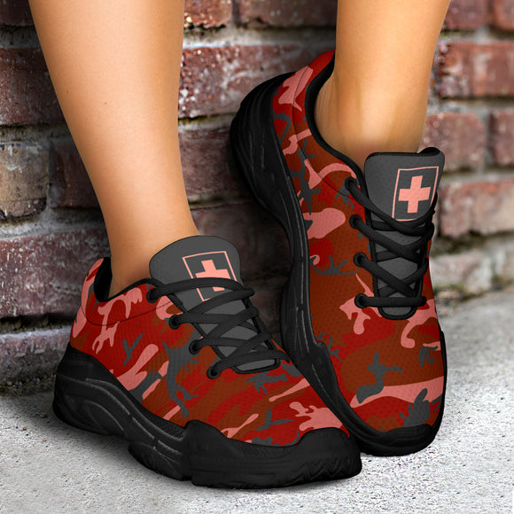 The Dark Camo Warrior Nurse I Chunky™ Women's Sneaker (More Colors)