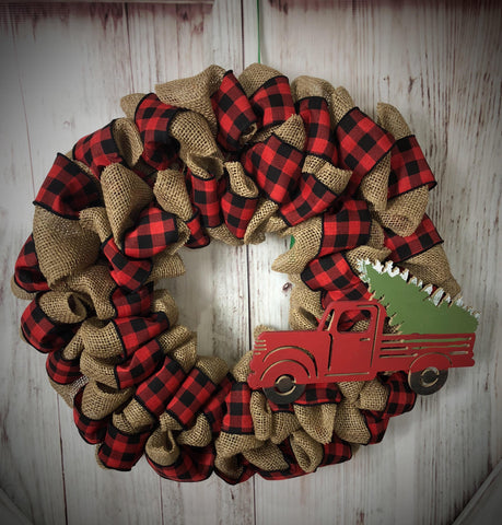 Buffalo Plaid Wreath- December 5