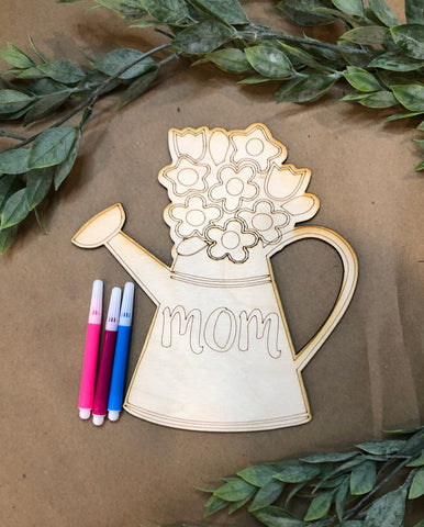 DIY Coloring Watering Can