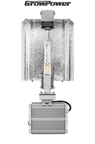 GrowPower CMH 315W Grow Light Fixture - Adjustable Hood [120-240V] - GrowPower