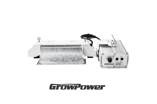 GrowPower HPS 1000W Double-Ended (DE) Grow Light Fixture [240V-277V] - Compatible with EL1/EL2 Light Controller - GrowPower