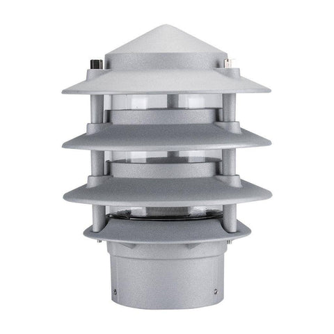 P-Bollard Light Exterior E27 Tiered Conical in Beige Black Silver Green and White Domus Lighting