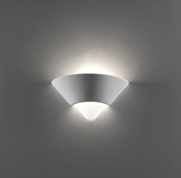 Wall Light Raw Ceramic w Frosted Glass E27 in 28cm BF-7908 Domus Lighting