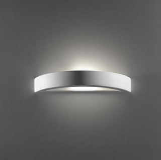 Wall Light Raw Ceramic w Frosted Glass in E27 in BF-8042 or BF-7603 Domus Lighting