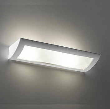 Wall Light Raw Ceramic w Frosted Glass in E27 60cm BF-8186 Domus Lighting