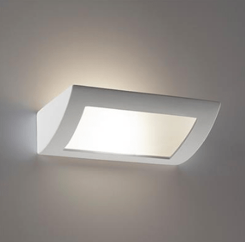 Wall Light Raw Ceramic w Frosted Glass in E27 30cm BF-8232 Domus Lighting