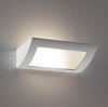 Image of Wall Light Raw Ceramic w Frosted Glass in E27 30cm BF-8232 Domus Lighting