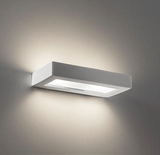 Wall Light Raw Ceramic w Frosted Glass G9 in 30cm BF-8276 Domus Lighting | Alpha Lighting & Electrics
