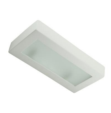 Wall Light Raw Ceramic w Frosted Glass Twin G9 in 30cm BF-8276 Domus Lighting