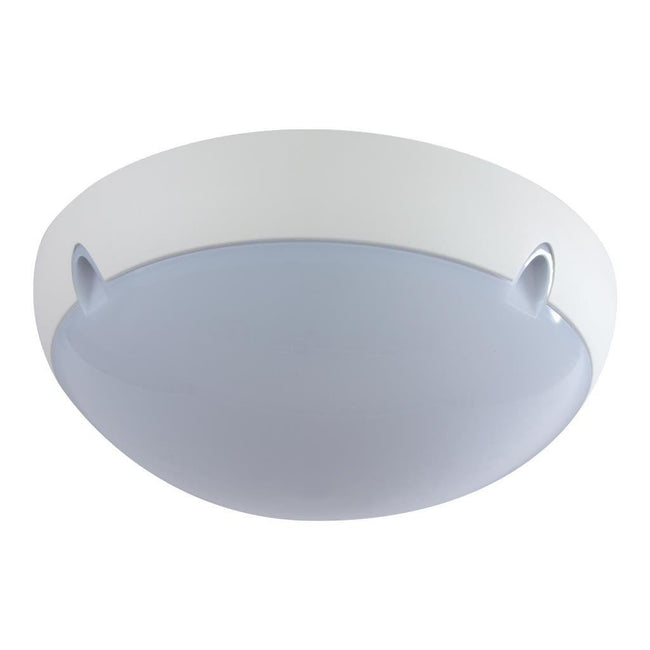 Wall Ceiling Light Exterior Round in White and Black E27 Domus Lighting