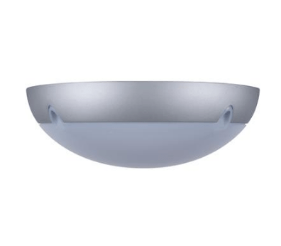 Wall Ceiling Light Exterior Round in Silver 34cm Domus Lighting