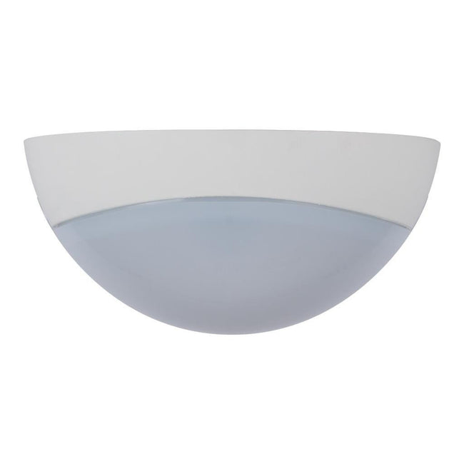 Wall Ceiling Light Exterior Round in White and Black 25cm Domus Lighting
