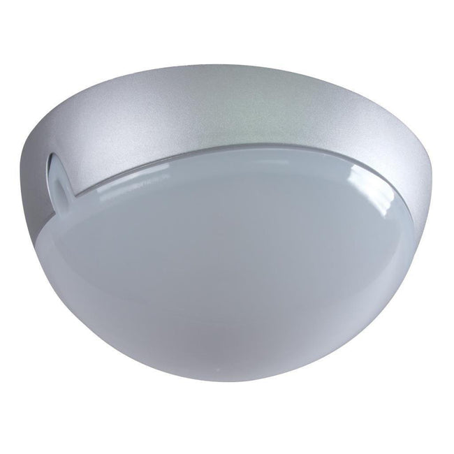 Wall Ceiling Light Exterior Round in Silver 25cm Domus Lighting