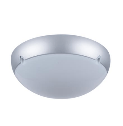 VL-140102 Large Round 240V Polycarbonate Ceiling Light - Silver Trim/E27 Domus Lighting