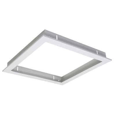 Domus Lighting TRIM-303 Square Recessed Panel Trim - Satin White Trim
