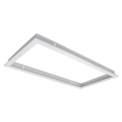 Domus Lighting TRIM-306 Rectangular Recessed Panel Trim - Satin White Trim