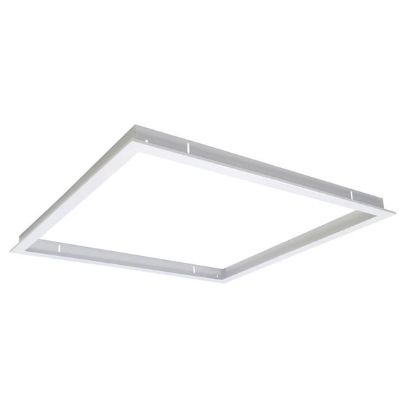 Domus Lighting TRIM-606 Square Recessed Panel Trim - Satin White Trim