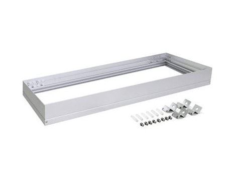 Domus Lighting SM KIT-312 Rectangular Surface Mounted Panel Frame - Aluminium Finish | Alpha Lighting & Electrics