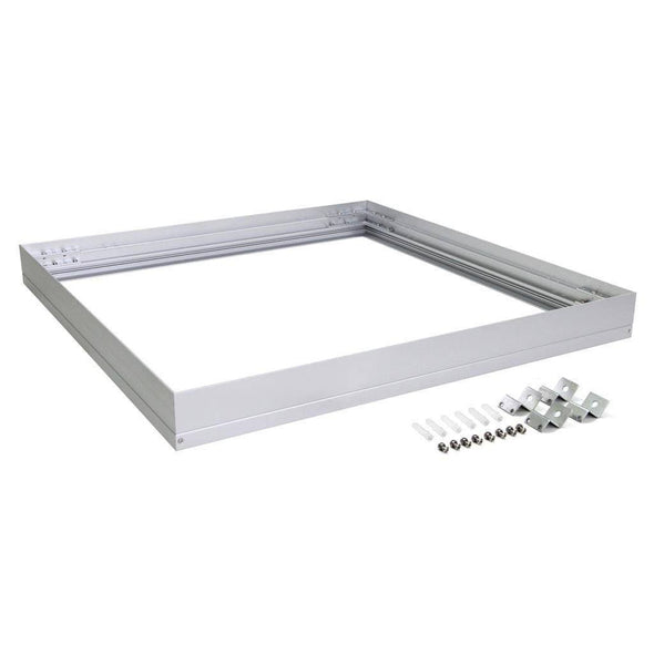 Domus Lighting SM KIT-606 Square Surface Mounted Panel Frame - Aluminium Finish | Alpha Lighting & Electrics