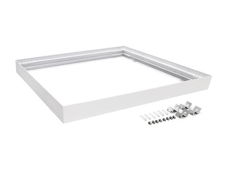 Domus Lighting SM KIT-606 Square Surface Mounted Panel Frame - White Finish | Alpha Lighting & Electrics