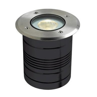 Domus Lighting Modula-Round 24V 9W LED Inground Light Aluminium Finish - 3000K or 5000K