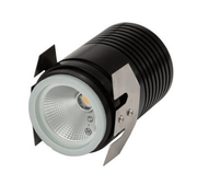 Domus Lighting Deka-Body Round 12V 3W LED Inground Light Black Body - 3000K or 5000K | Alpha Lighting & Electrics