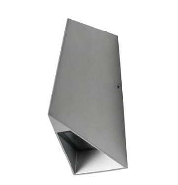 LED Wall Light Outdoor Aluminium Silver 8W IP54 X-Wave in 3K and 5K Domus Lighting
