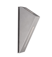 LED Wall Light Outdoor Aluminium Silver 6W IP54 I-Book 3K and 5K Domus Lighting