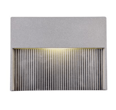 LED Step Light Recessed Outdoor 4W Silver in 3000K or 5000K in 11cm Domus Lighting