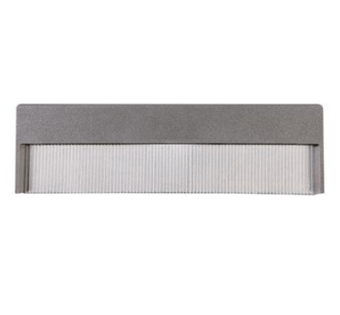 LED Step Light Recessed Outdoor 4W 3000K or 6000K in 22cm 240V in Silver Domus Lighting