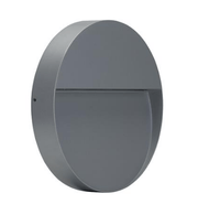LED Wall Light Exterior Surface Mount Round 9W 240V in Silver or Dark Grey Zeke Domus Lighting | Alpha Lighting & Electrics