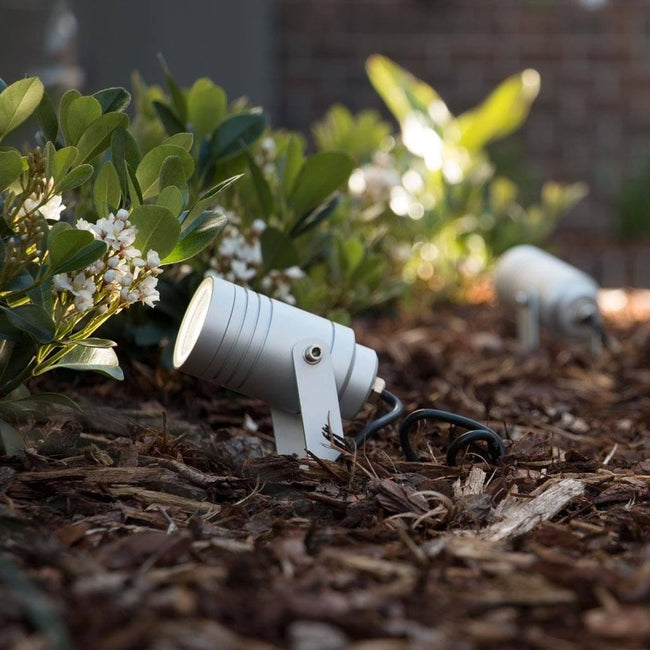 Domus Lighting ELITE-SPIKE MR16 6W 12V LED Garden Spike Light - Anodised Finish (Body Only) | Alpha Lighting & Electrics