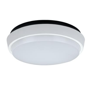 LED Oyster Light 20W 240V Dimmable in Satin White and Silver in 3K and 5K Domus Lighting