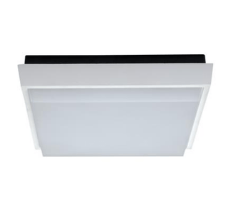 LED Oyster Light 30W Dimmable Tab in Satin White or Silver in 3K and 5K Domus Lighting