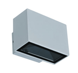 LED Wall Light Twin Silver or White in 6W 240V 9cm Block Mini in 3K and 5k Domus Lighting