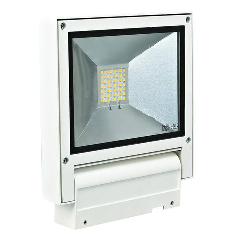 LED Flood Light Exterior Adjustable Silver or White in 20W 23cm Flash Domus