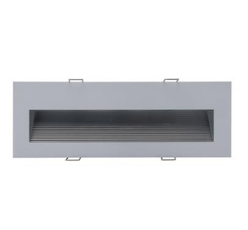 LED Step Light 3W w 3000K or 6000K in 24cm 240V Slide Domus Lighting