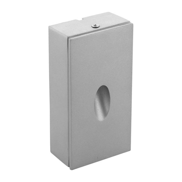 LED Step Light Surface Mounted Outdoor Square Silver 3W ME in 32K or 64K Domus Lighting