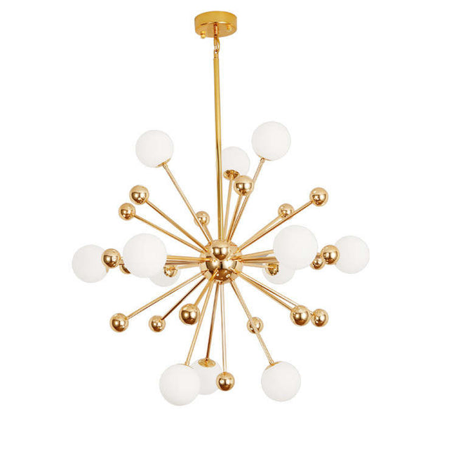 Solace Gold and Opal Glass Chandelier