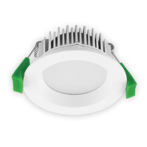 LED Downlight Deco 8W Round Dimmable in 3K or 5K White or Aluminium Domus Lighting