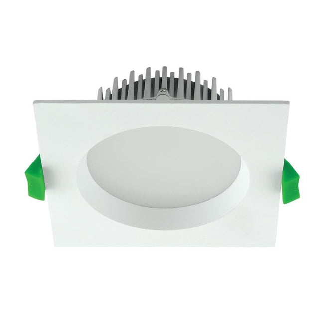 Domus Lighting DECO-13 Square 13W Dimmable LED Downlight - White Frame | Alpha Lighting & Electrics