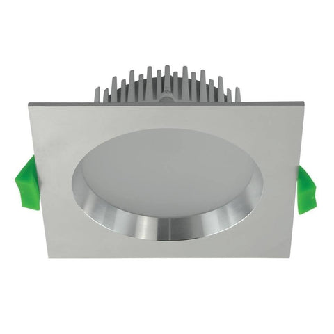 LED Downlight Deco 13W Square Dimmable Aluminium in 3K or 5K Domus Lighting