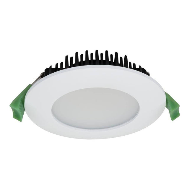 LED Round Trim Dimmable 13W in 3K or 5K Splash in White and Silver Domus Lighting