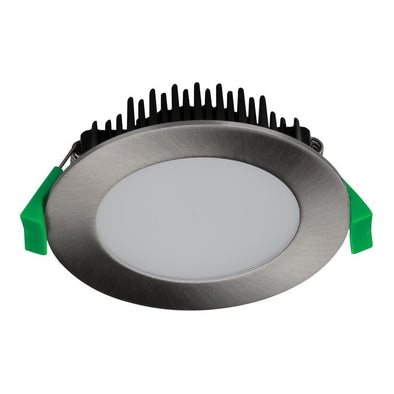 TEK-13 Round 13W Dimmable LED Downlight in Satin Chrome in 3K 5K and TRIO Domus Lighting