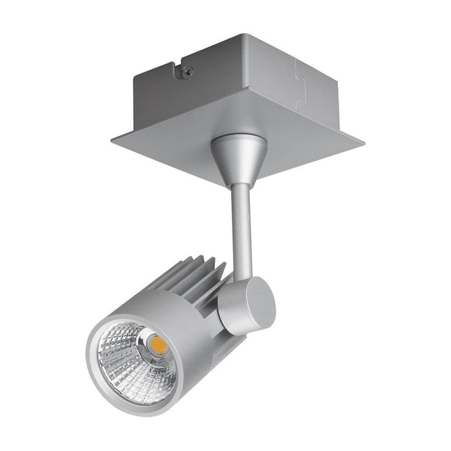 LED Spot Light 10W Dimmable in White or Silver w 3000K or 5000K Jet Domus Lighting | Alpha Lighting & Electrics