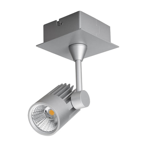 LED Spot Light 10W Dimmable in White or Silver w 3000K or 5000K Jet Domus Lighting