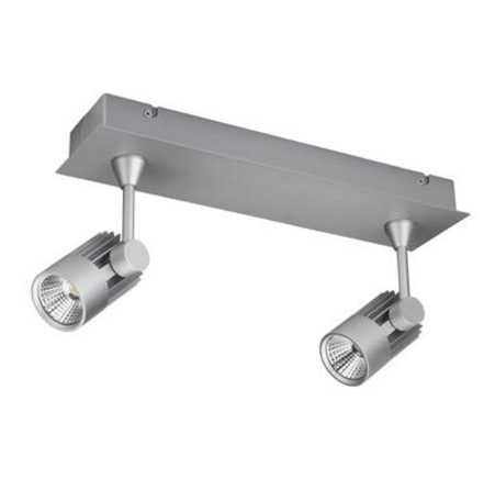 LED Spot Light Twin Bar Dimmable 20W in White or Silver 40cm Jet in 3K or 5K Domus Lighting