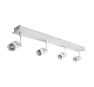 LED Spot Light Four Bar Dimmable 40W in White or Silver 86cm Jet in 3K or 5K Domus Lighting