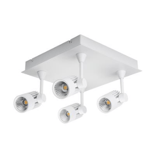 LED Spot Light 40W Dimmable in White or Silver w 3000K or 5000K Jet Domus